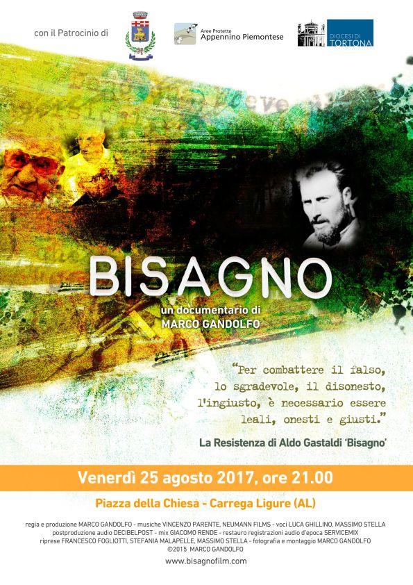 """Proiezione """"Bisagno"""", documentario di Marco Gandolfo. Venerd' 25 agosto, Piazza della Chiesa, Carrega Ligure"""