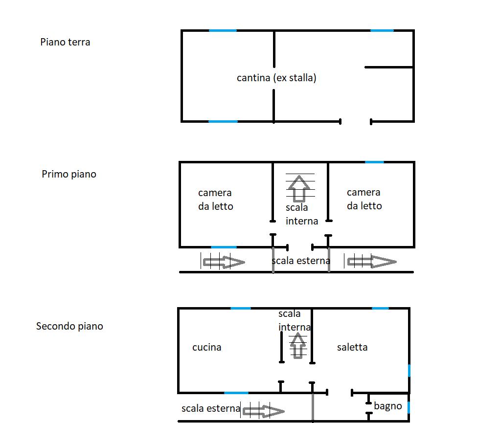 Connio, casa 3 piani, piantina